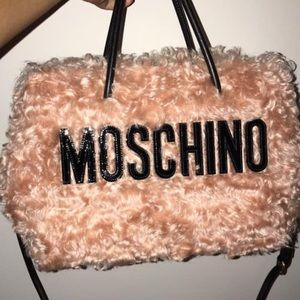 Moschino Branded Sherpa Tote